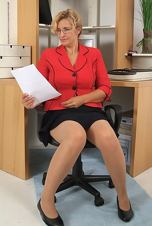 Mom pantyhose Mature